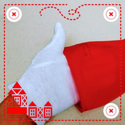 ゴム手袋の中に綿の手袋